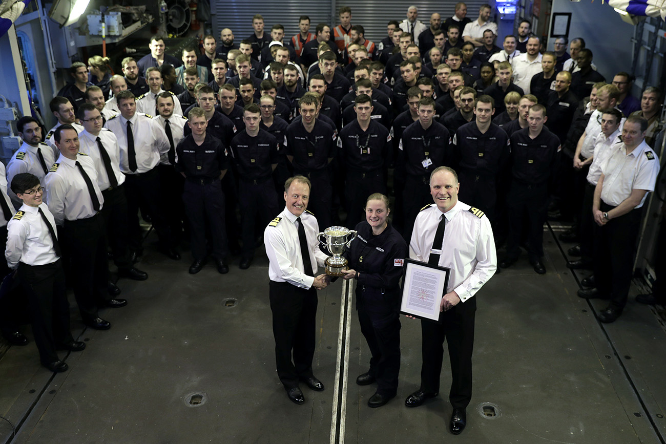 HMS Somerset receives effectiveness award